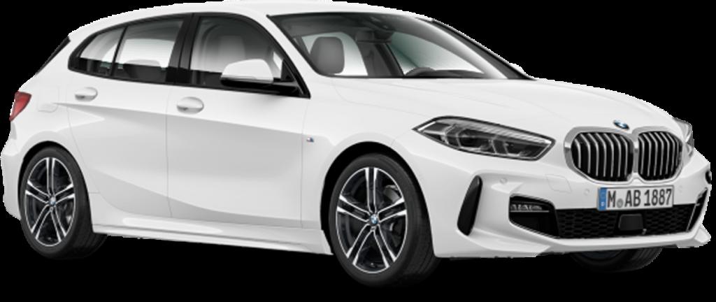 white BMW hatchback PNG image