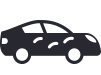 car with dents icon
